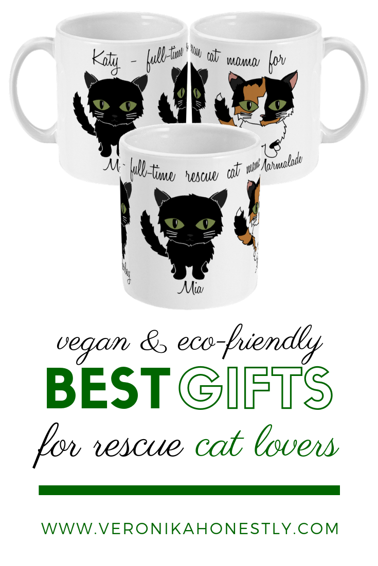 Hand Drawn Personalised Cat Rescue Cat Gift