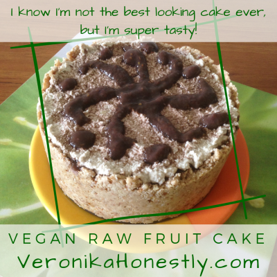 Veronika Honestly raw vegan fruit cake